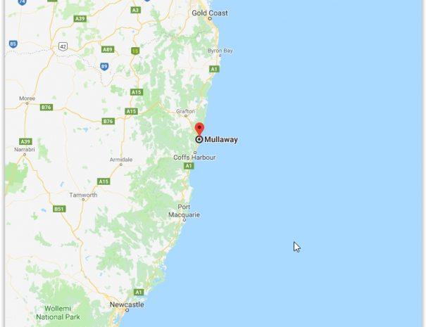 Brisbane Sydney Map
