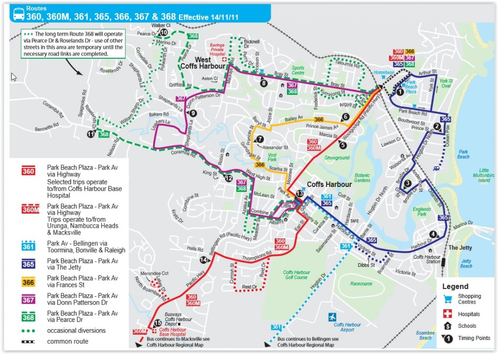 Coffs Harbour Bus Routes
